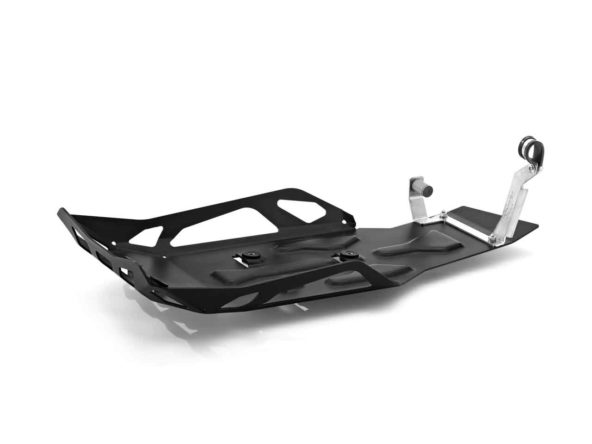 Алуминиев ендуро щит за двигателя, черен