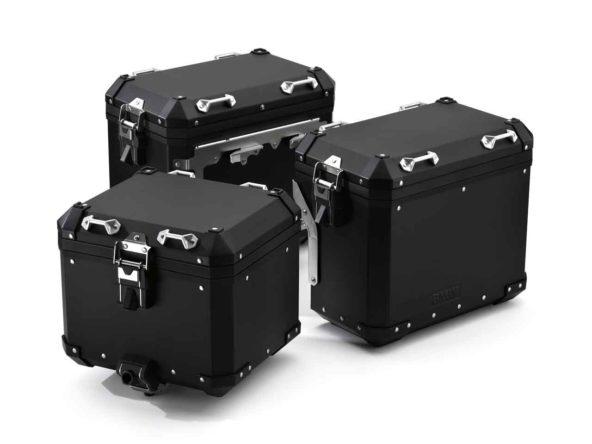 Sistem de bagaje din aluminiu (negru)